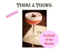 Cocktail of the month has to go @PerukePeriwig Nom De Plume. Pynck visited there recently and were very impressed with this flowery, fruity drink.  The cocktail is made up of Beefeater 24 Gin, Elderflower, Peruke's Pomegranate Grenadine, Rose Water, Lemon, Sugar & Whites. #cocktails #lovindublin #cocktailofthemonth