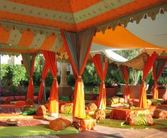 Raj Tents-- Indian wedding. These tents are a beautiful way to accept color !   For planning your next event with ease use http://evenium.net !