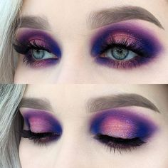 Pink and Purple Halo eye