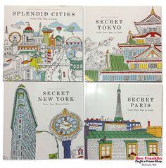 Secret Cities Adult Coloring Books By Zoe De Las Cases Titles Splendid
