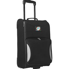 NFL Miami Dolphins Legacy Steadfast Upright CarryOn Luggage 21Inch Black ** For more information, visit image link.