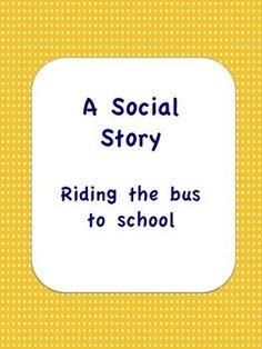 A Social Story: Riding the Bus to School- Grammar Error Fixed!
