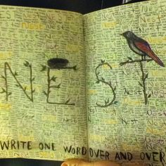 Nest - Wreck This Journal page