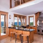 Vermont timber home kitchen