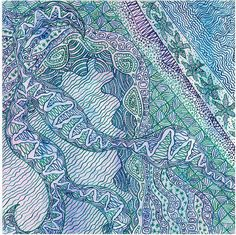 8 x 8 inches zentangle drawing created when от StepanovArt на Etsy