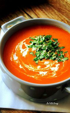 Stuffed Pepper Soup, Stuffed Peppers, Healthy Dishes, Healthy Recipes, Great Recipes, Soup Recipes, Cream Of Tomato, Spicy Carrots, Kitchen Recipes
