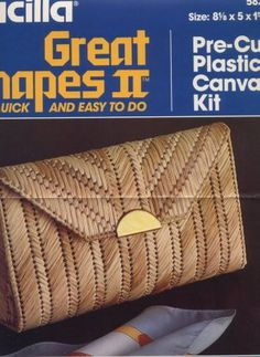 Bucilla Plastic Canvas Straw Elegance Clutch Bag Pattern Only From Kit 5823