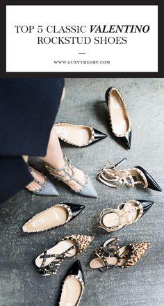 Valentino Top 5 Classic Rockstud Shoe Review - Luxy Theory  Valentino 'Rockstud' T-Strap Pumps // Valentino 'Rockstud' Ballerina Flats // Valentino 'Rockstud' Pointy Toe Pumps // SS16