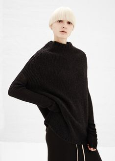 Rick Owens Black Crater Knit