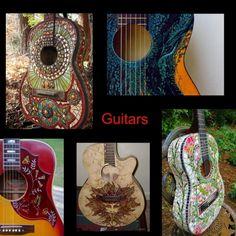 Guitar Art Bobbi collage