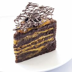 Chocolate, hazelnut & mandarin layer Cake