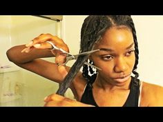 Natural Hair Mini Chop on Heat Damaged Hair ♡ #EverydayFebruary Day 5 - YouTube