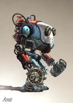 ArtStation - mini boss robot character and sketches, peyman&pejman jafartash