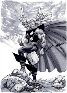 Thor Sketch by davidyardin.deviantart.com on @deviantART