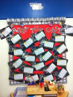 Each student had their photo taken and wrote a small star-bio about themselves. I love this bulletin board.