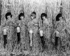 Sennett Bathing Beauties, 1915  'In 1915, Mack Sennett assembled a bevy of girls known as the Sennett Bathing Beauties to appear in provocative bathing costumes in comedy short subjects, in promotional material, and in promotional events like Venice Beach beauty contests.'
