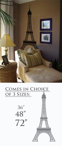 Eiffel tower wall decal. I NEED this!