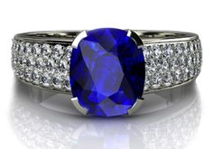 Sapphire and Diamond Dress Ring, designed and handcrafted by Phillip Stoner the Jeweller.