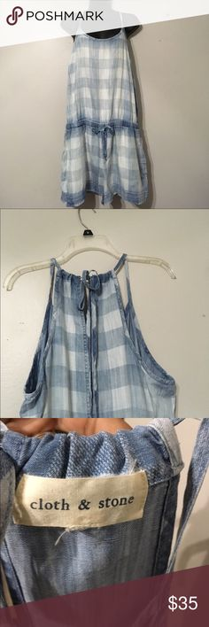 Anthropology cloth in stone romper checkered style In great used condition no tears or holes. This is a romper with the checkered style to it. They bag does Tie to adjust shoulder straps. Anthropologie Other