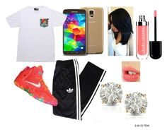 """""""Marc Jacobs"""" by totally-gnarly ❤ liked on Polyvore featuring adidas, NIKE, Samsung, Neff, Charlotte Tilbury and Auriya"""
