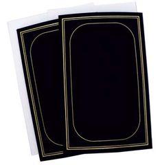 Frame Card - Foil Trimmed Round Corner - Black/Gold