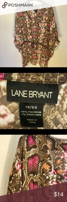 "Lane Bryant Size 18 / 20 Bohemian Print Blouse Approximately:  Waist  24"" Length 29""   Thank you SO much for visiting my Posh Closet! 😀  I will have SO many new exciting things being listed this week!  No matter whether you are looking for dainty minimal designs, leather, elegant, Lacey, Boho, peasant, sportswear, career or shoes ( boots, heels, tennis shoes ). It all will be here in my closet so please check out what else is here.  Offers & bundles ALWAYS welcome! D1. 2/10 Lane Bryant Tops…"