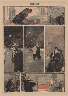 Simplicissimus, année I | Töpfferiana Wilhelm Schulz, « Umsonst », Simplicissimus, n° 32, 7 novembre 1896.