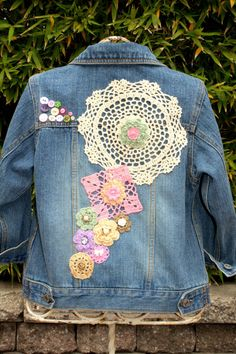 Been there done that... again? Denim Appliqued Jacket  (OOAK)
