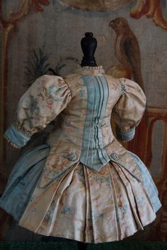 Wonderful French silk dress by Madame Jumeau size 10