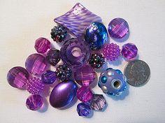 Rhinestone Beads Fancy Beads Assorted Purple Beads by FLcowgirls #beadsforsale #purple #fancybeads