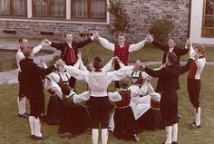 Folk Dancing in local costumes, Voss, Norway
