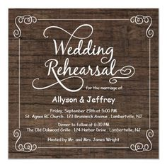 Rustic Wood Wedding Rehearsal Dinner Invitations Chalkboard Wedding Invitations, Country Wedding Invitations, Rustic Invitations, Wedding Stationary, Shower Invitations, Dinner Invitation Template, Rehearsal Dinner Invitations, Wedding In The Woods, On Your Wedding Day
