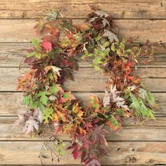 You can quickly DIY this cute wreath with branches from your yard.