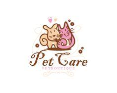 PetCare Logo design - Funny and handmade for a pet shop. Price $600.00