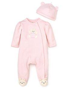 Little Me Infant Girls' Bear Footie & Cap - Sizes 3-9 Months | Bloomingdale's