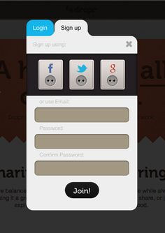 Dropr sign up form. App Ui Design, Mobile App Design, Interface Design, Ui Forms, App Login, Desktop Design, Sign Up Page, Digital Web, Google Plus