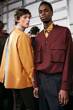 two models wear marni menswear AW16
