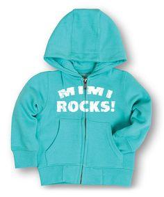 Look what I found on #zulily! Aqua 'Mimi Rocks' Zip-Up Hoodie - Toddler & Girls #zulilyfinds