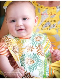 Slobber Monkey Baby Bib - Heather Bailey - free sewing pattern/tutorial
