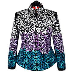 Purple and Teal Western Show Jacket