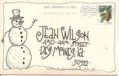 This link goes to Jean Wilson's site. Jean does envelops professionally, and her site is full of inspiration for envelops and wonderful lettering styles.
