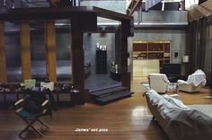 Brian Kinney's expensive loft from the American TV series 'Queer As Folk'. #Showtime #QAF Behind the Scenes. Set Construction.