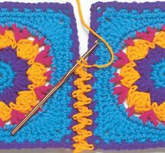 Transcendent Crochet a Solid Granny Square Ideas. Inconceivable Crochet a Solid Granny Square Ideas. Crochet Diy, Crochet Amigurumi, Crochet Motifs, Love Crochet, Learn To Crochet, Crochet Crafts, Crochet Stitches, Crochet Projects, Knitting Projects