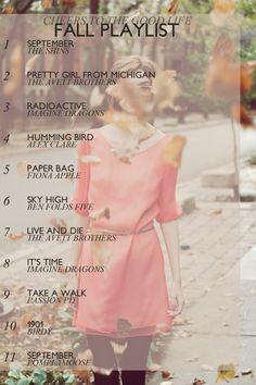 cheers to the good life: fall playlist Mehr Fall Playlist, Song Playlist, Music Mood, Mood Songs, Music Lyrics, Music Songs, Autumn Aesthetic, Song List, Music Stuff