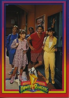 Original Power Rangers, before the Green ranger (later white) came into the picture <3