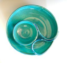 Chip and Dip Veggie Dip handmade ceramic dish by ocpottery on Etsy, $65.00