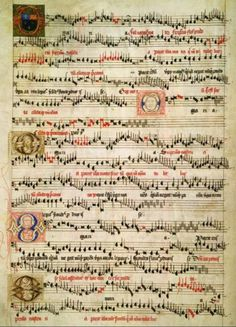 Early music of the British Isles Music Manuscript, Medieval Manuscript, Illuminated Manuscript, Renaissance Music, Medieval Music, Early Music, Old Music, Book Of Kells, Music Score