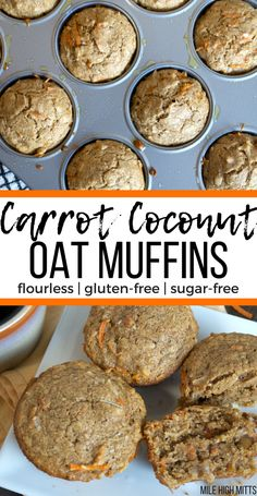 This healthy Carrot Coconut Oat Muffin recipe is flourless, gluten-free and sugar-free. The perfect easy family breakfast to make at the beginning of the week so that you have breakfast ready the rest of the week!