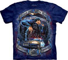Keep Calm and Hug a Cop Black Adult T-Shirt