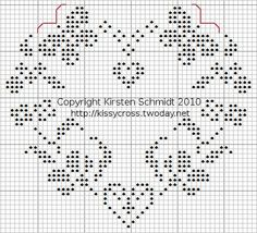 This Pin was discovered by Hal Cross Stitching, Cross Stitch Embroidery, Embroidery Patterns, Hand Embroidery, Cross Stitch Numbers, Cross Stitch Heart, Crochet Chart, Filet Crochet, Cross Stitch Designs